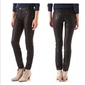 Free People Vegan Leather Moto Pants Size 2